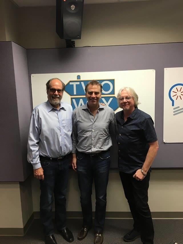 (From left) Bill Nigut, Robert McDuffie, and Mike Mills