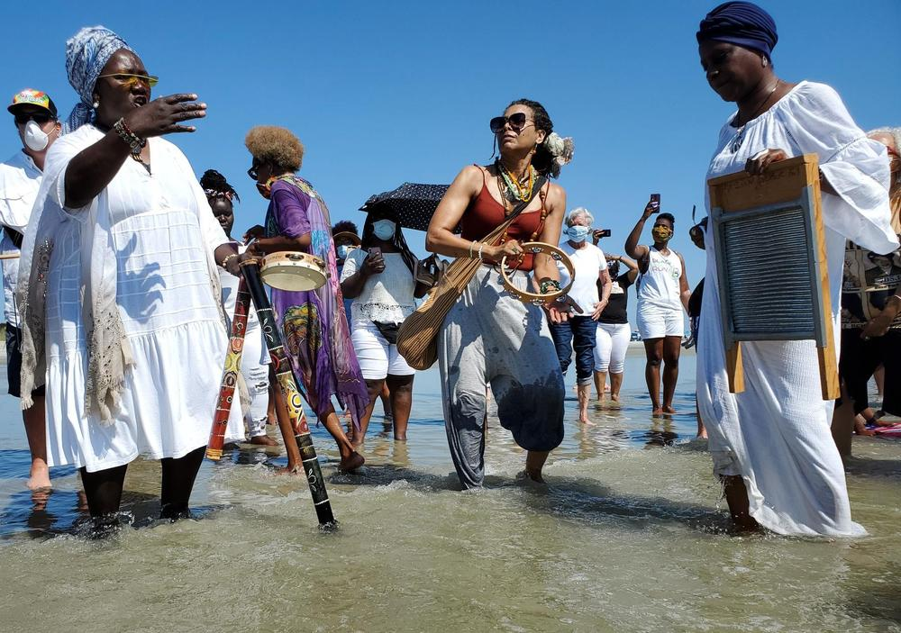 An annual wade-in celebration on Juneteenth honors the Tybee wade-in protests of the 1960s and the long, ongoing fight against systemic racism.