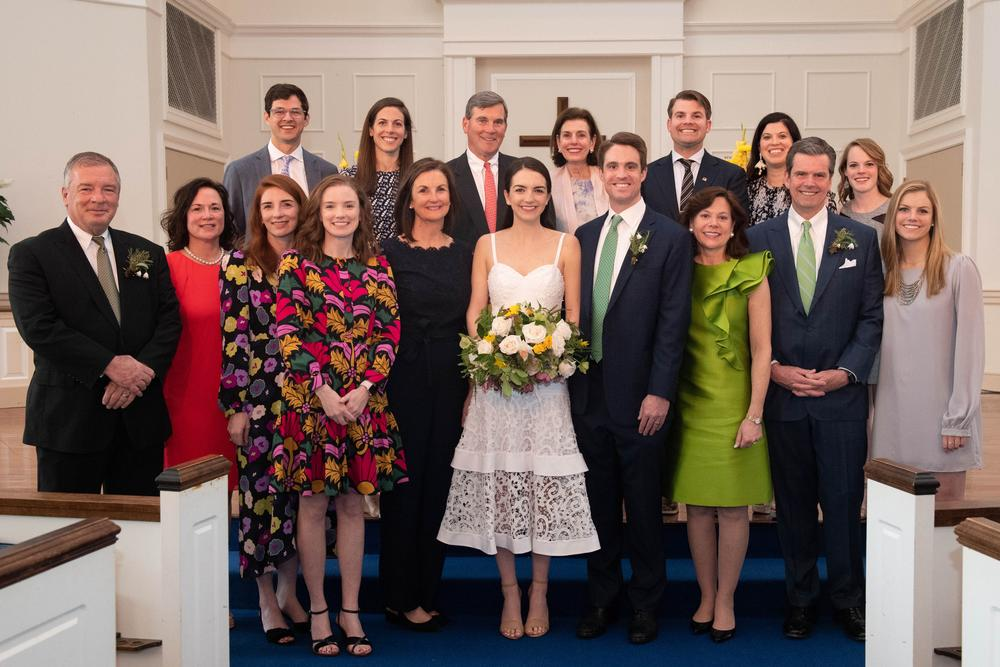 The couple - and their families - were determined to help the two tie the knot before the courts shut down due to COVID-19.
