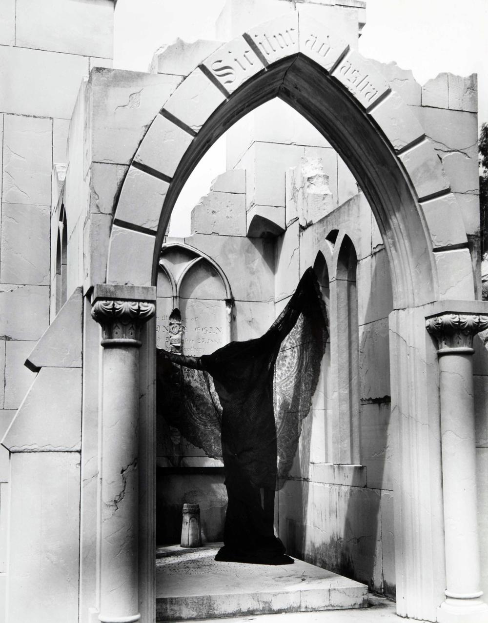 Clarence John Laughlin (American, 1905-1985), The Bat, 1940, gelatin silver print. High Museum of Art, Atlanta, gift of Lucinda W. Bunnen for the Bunnen Collection, 1981.93.