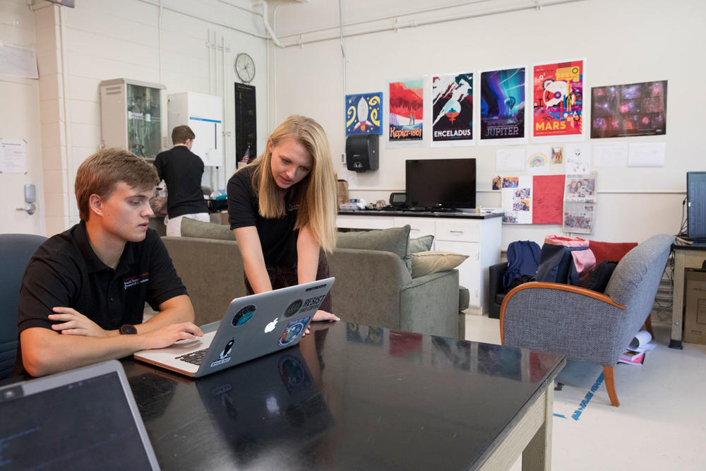 "The lab boasts amenities like video games and a ""snack zone"" to help students through their long hours in the lab."