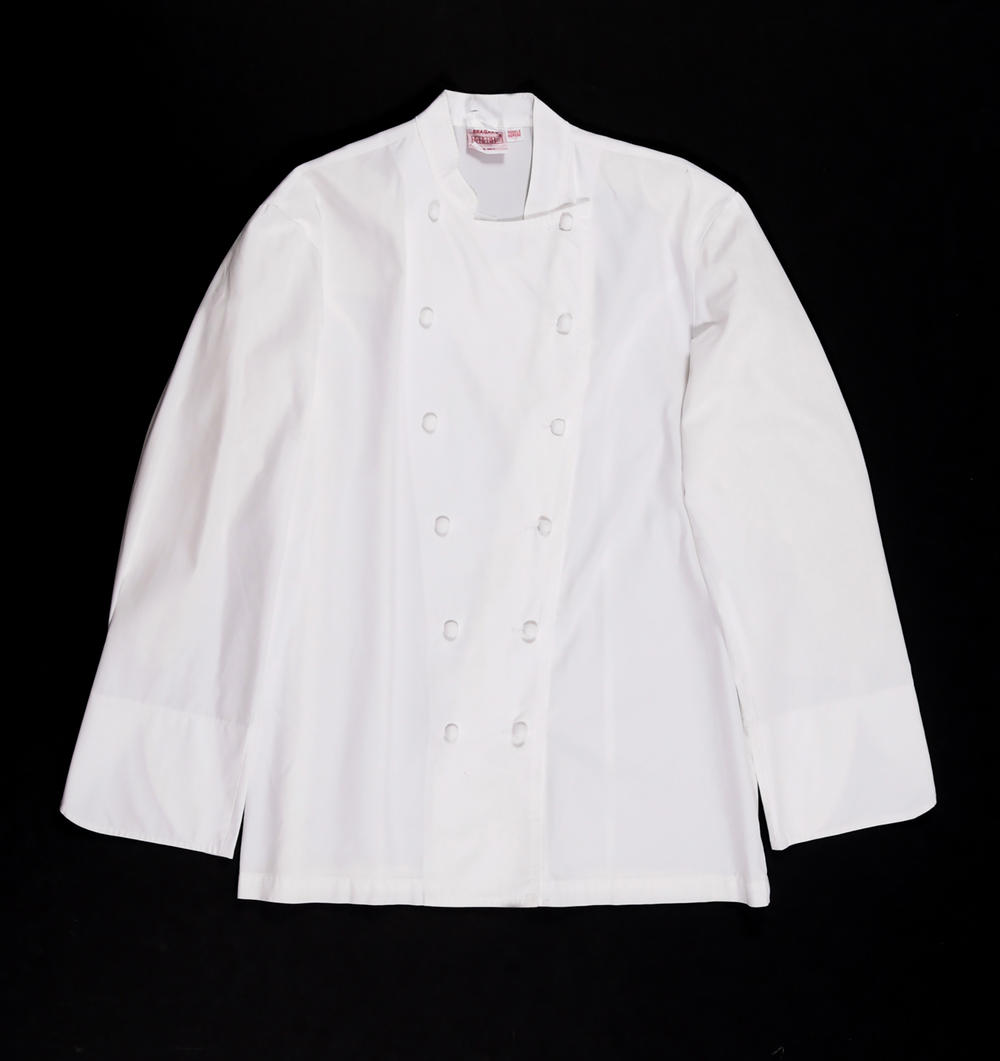 """Some items, like this chef jacket worn by Anthony Bourdain for his cameo in the film """"The Big Short,"""" are not on display in Savannah, but are still available for auction."""
