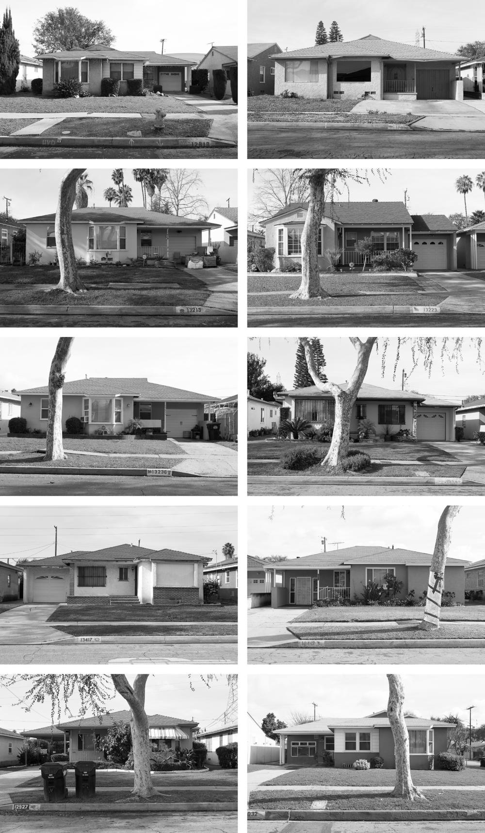 Homes from the Carver Manor section of Willowbrook, Calif. A Black real estate agent named Velma Grant acquired the land for these 250 tract homes and hired Williams to design them for Black veterans returning from World War II. Instead of creating