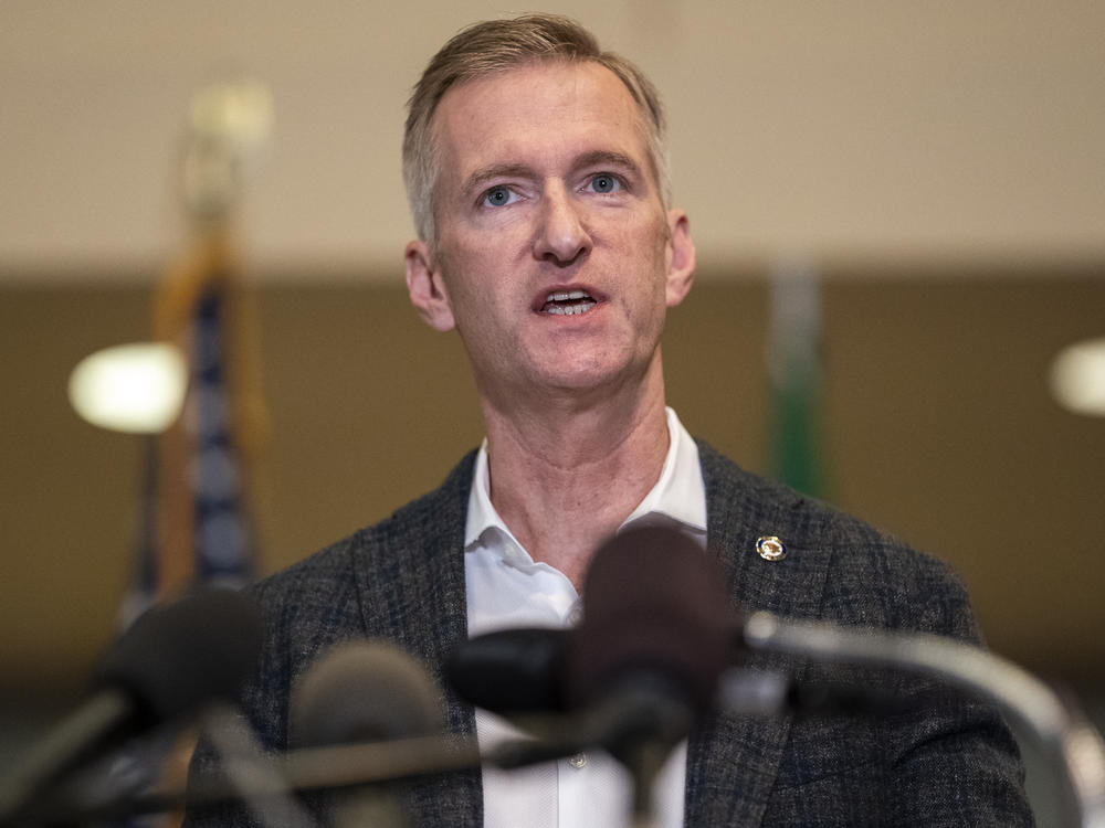 Portland Mayor Ted Wheeler issued the ban on CS gas in his role as the city's police commissioner. He's seen here at City Hall in late August.