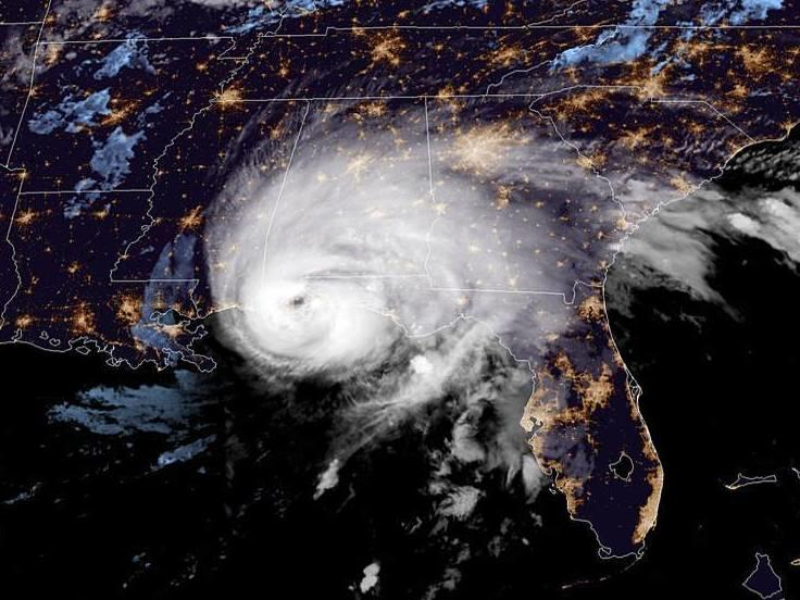 Hurricane Sally made landfall near Gulf Shores, Ala., just west of the Florida border, around 5:45 a.m. ET Wednesday.