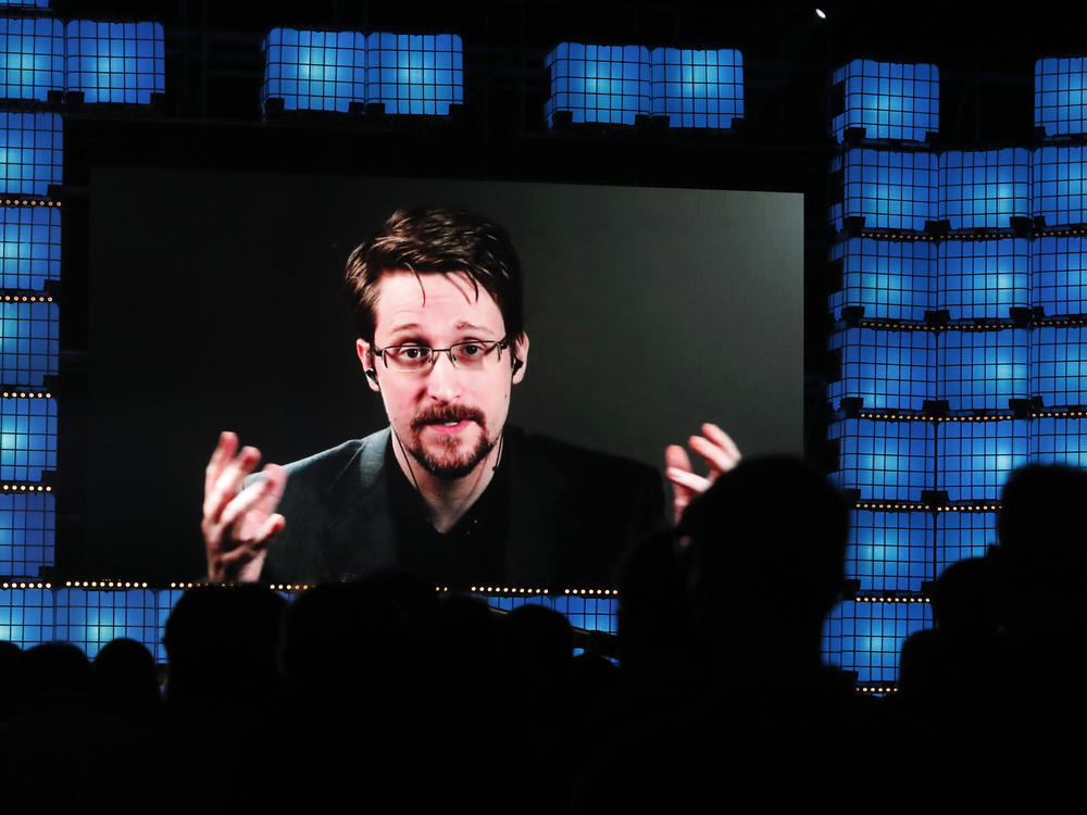 A federal court is ordering ex-National Security Agency contractor Edward Snowden, seen here in November, to pay more than $5 million in profits and royalties from his 2019 memoir <em></em>and speeches.
