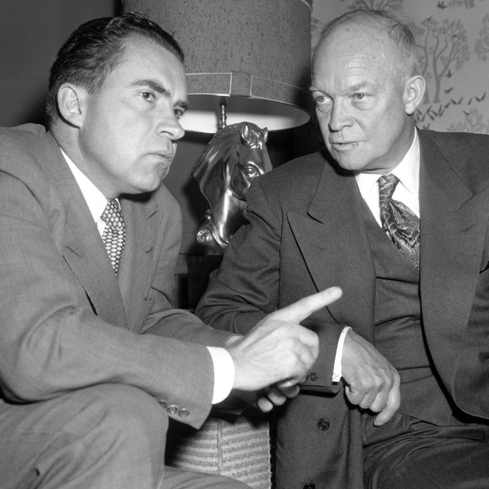 President Dwight Eisenhower's medical problems led to an agreement with his vice president, Richard Nixon, to transfer executive power in the event of presidential incapacity.
