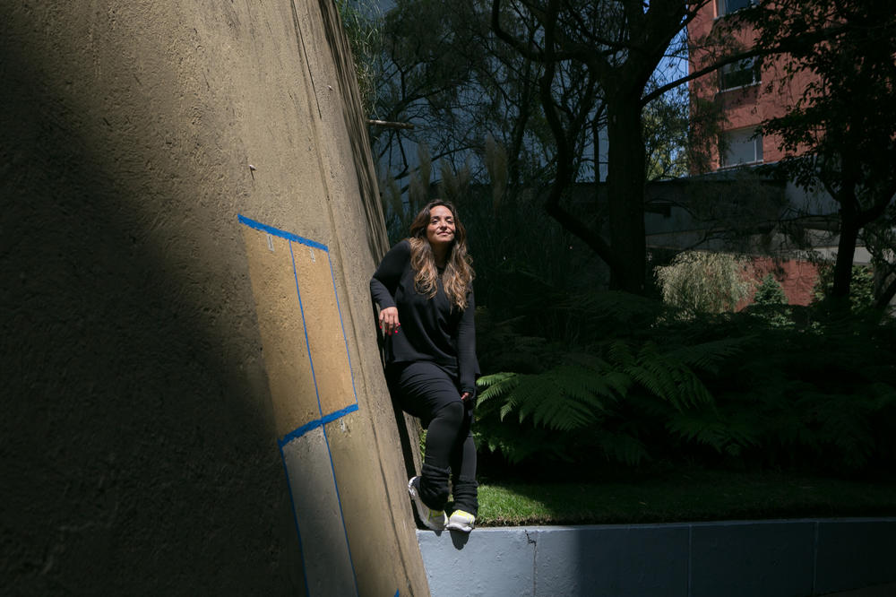 Eva Vale, a visual artist, outside her home in Mexico City.