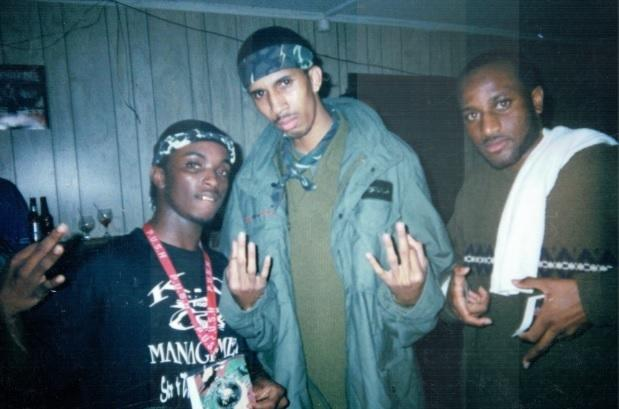 Mac (center) at Club Mercedes in Slidell, La. on February 20, 2000, the night of Barron Victor, Jr.'s shooting. Mac was charged and convicted of manslaughter in the case, though he has maintained his innocence.