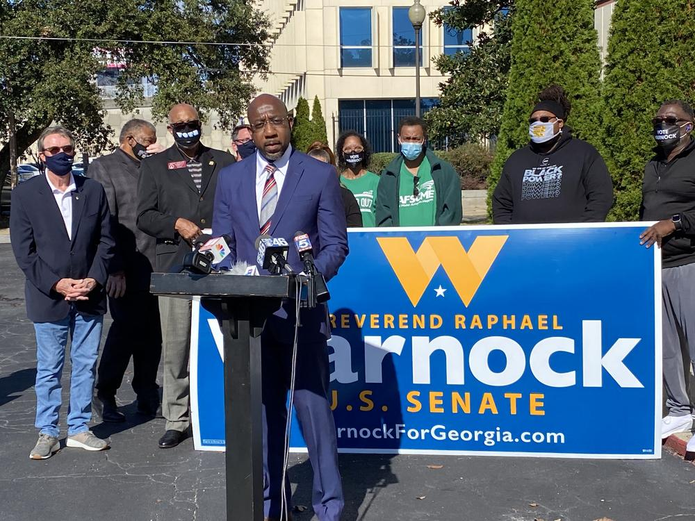 The Rev. Raphael Warnock kicks off his runoff campaign Nov. 12 to try to unseat Loeffler. Warnock leads Ebenezer Baptist Church in Atlanta and has been politically active in the fight to expand Medicaid to uninsured Georgians.