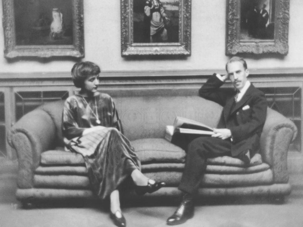 After the deaths of his father and brother in 1917 and 1918, Duncan Phillips found solace in art. His wife, Marjorie Phillips, was a painter. They opened The Phillips Collection in Washington, D.C., in 1921. They are pictured in the Main Gallery, circa 1920.