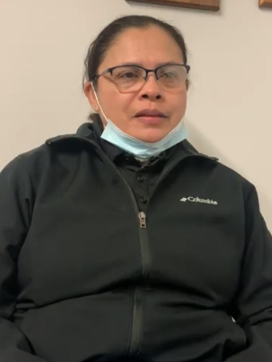 Gloria Espinoza lost her job in April as a janitor in San Francisco.