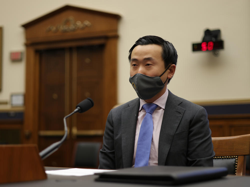 Attorney Wencong Fa of Pacific Legal Foundation testifies during a hearing before the Subcommittee on the Constitution, Civil Rights, and Civil Liberties of the House Judiciary Committee on Thursday.