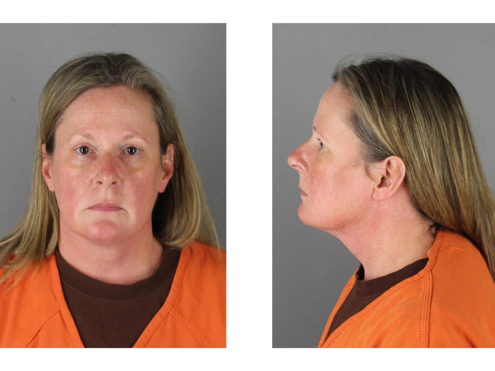 Former Brooklyn Center, Minn., police officer Kim Potter was arrested Wednesday and released later that day on a $100,000 bond.