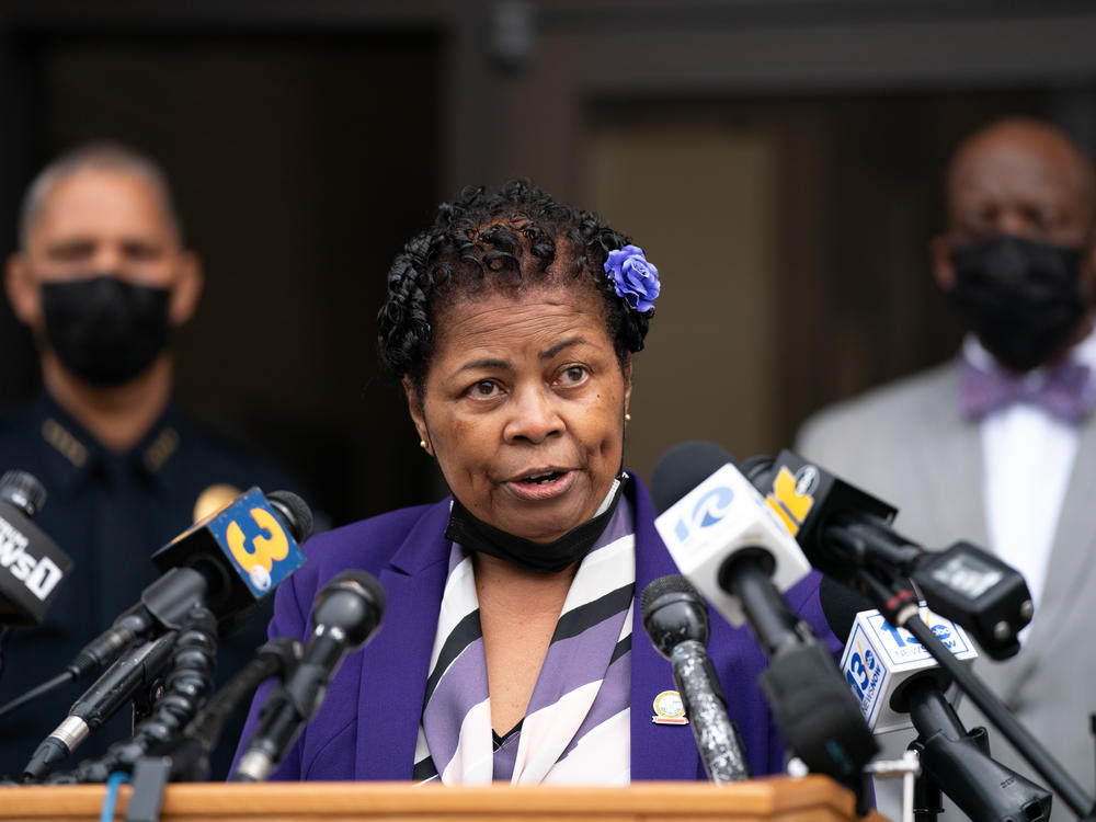 Elizabeth City Mayor Bettie Parker said she is disappointed the public will have to wait longer before the footage is released. Parker is seen at a press conference on Saturday.