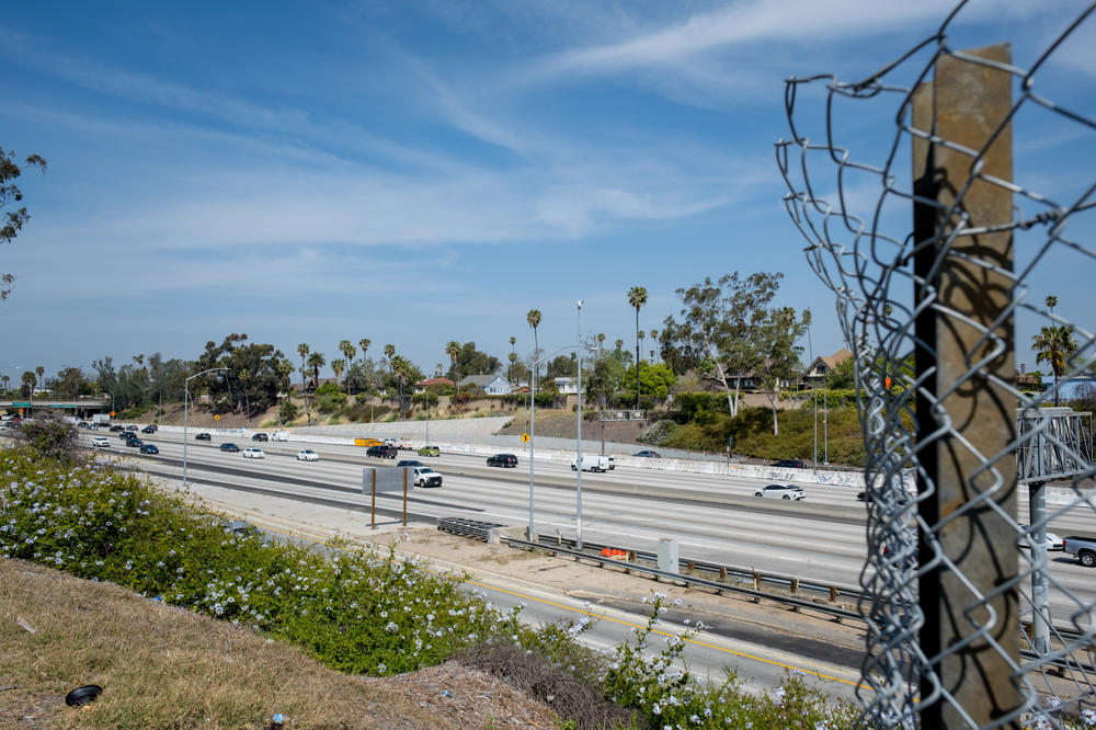 Santa Monica I-10 freeway now occupies the space where the historic neighborhood of Berkeley Square once stood.