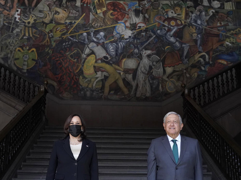Vice President Harris and Mexican President Andrés Manuel López Obrador discussed migration and economic cooperation Tuesday.
