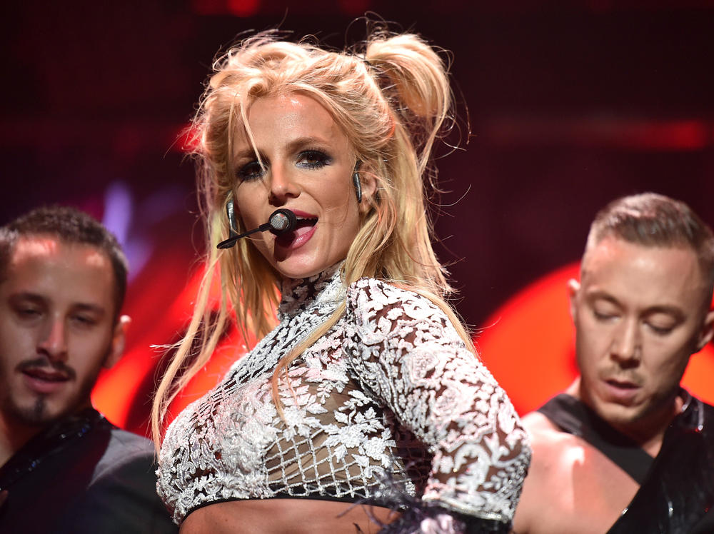The pop star performs in Los Angeles in 2016.