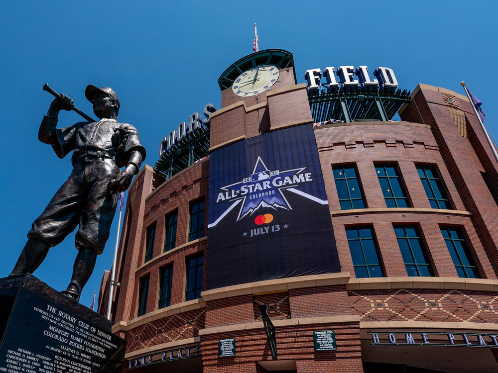 Coors Field in downtown Denver, where Major League Baseball's All-Star Game will be held Tuesday night. The game was originally to be held in the Atlanta area.