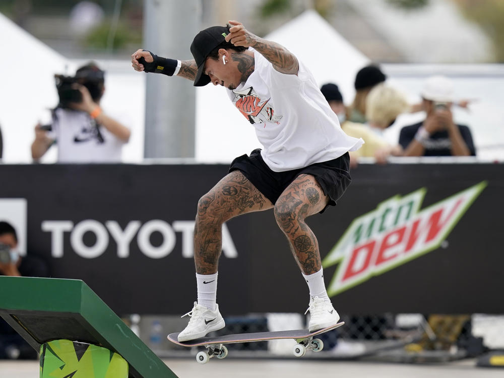 Nyjah Huston is a medal contender for the U.S. in the men's street skateboarding event.
