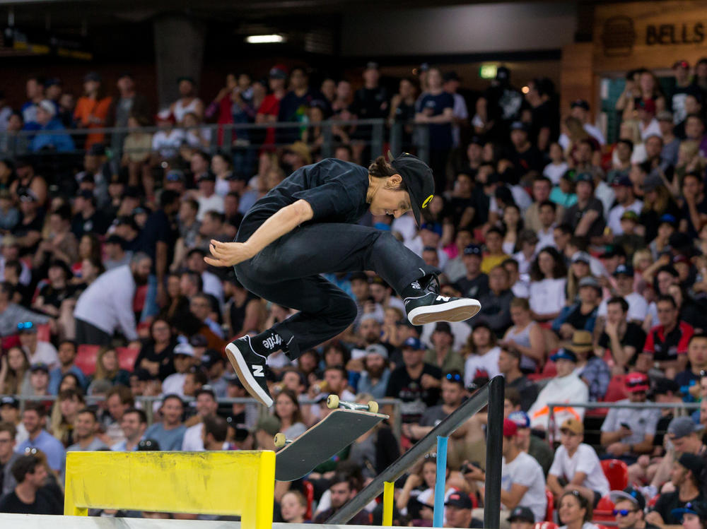 Alexis Sablone of the U.S., shown here in 2018, will compete in the Olympic debut of skateboarding.