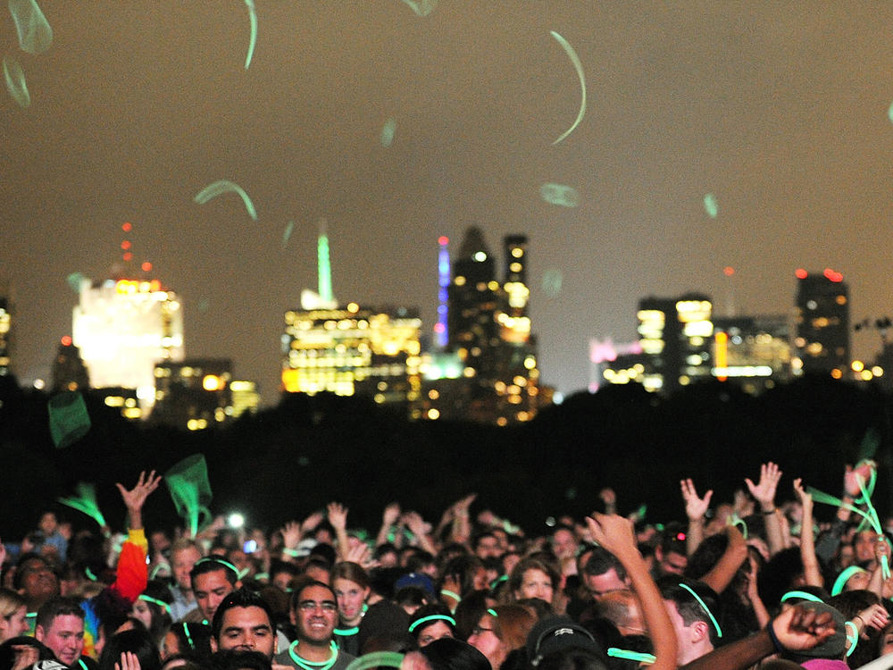 The crowd at a 2011 concert at Central Park's Great Lawn.