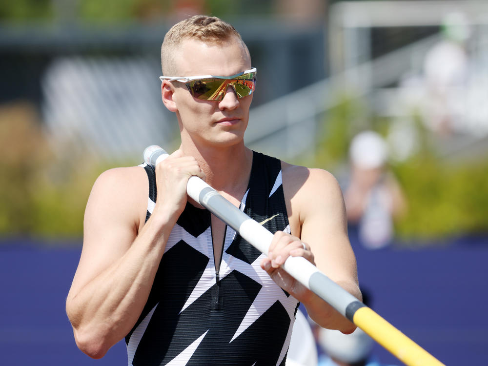 Sam Kendricks competes in the Men's Pole Vault Final at last month's U.S. Olympic Track & Field Team Trials in Eugene, Ore.