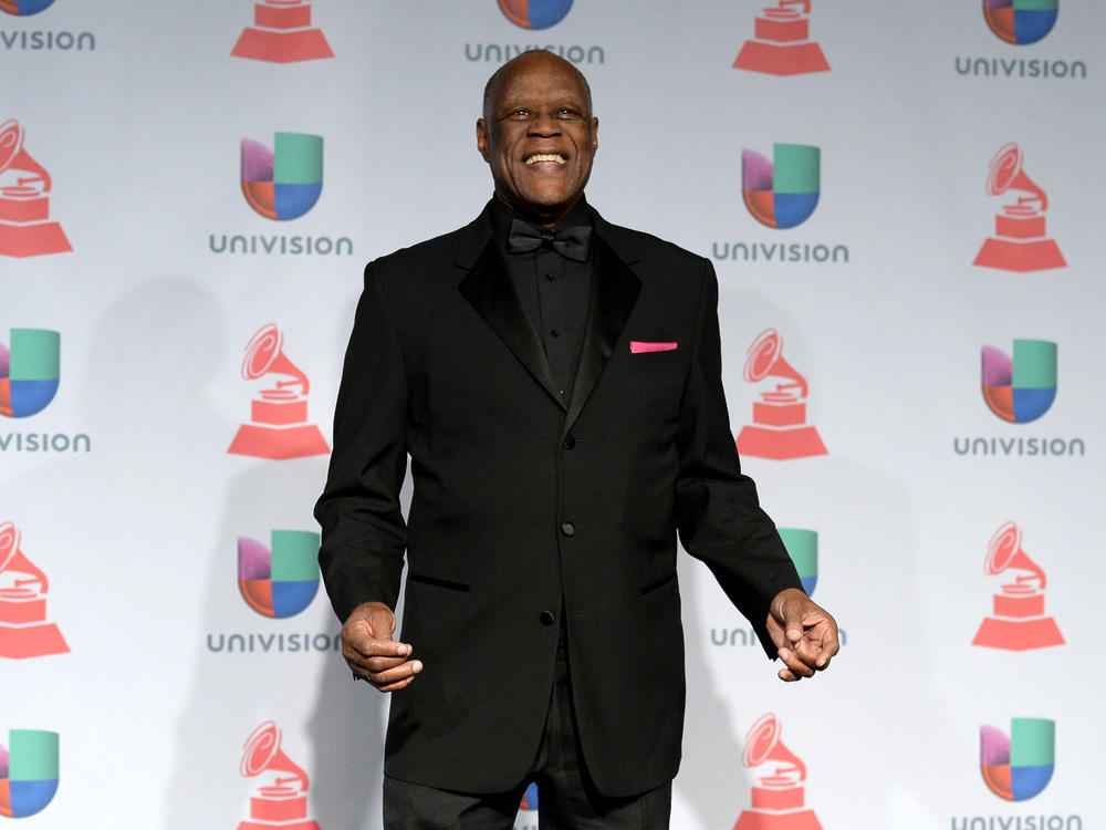Johnny Ventura, seen here at the Latin Grammys in 2013, died at the age of 81 on Wednesday.
