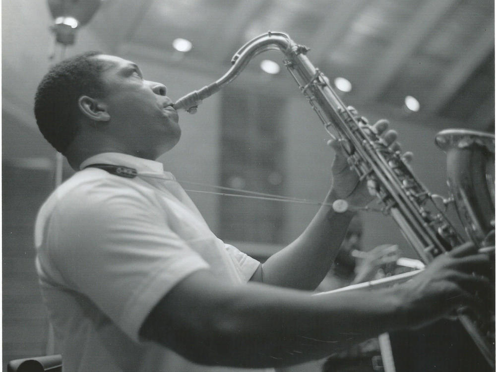 John Coltrane, photographed performing at The Penthouse during a run of performances in Seattle, Wash. in 1965. A recording of one, long lost, is now being released as <em>A Love Supreme: Live in Seattle</em>.