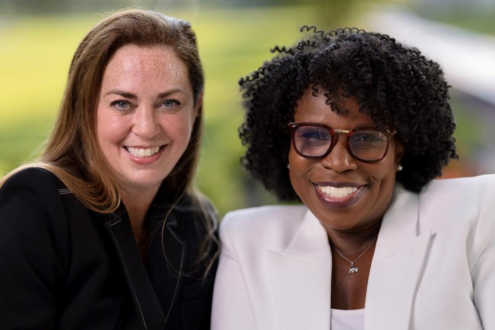 Marie Benedict (left) and Victoria Christopher Murray