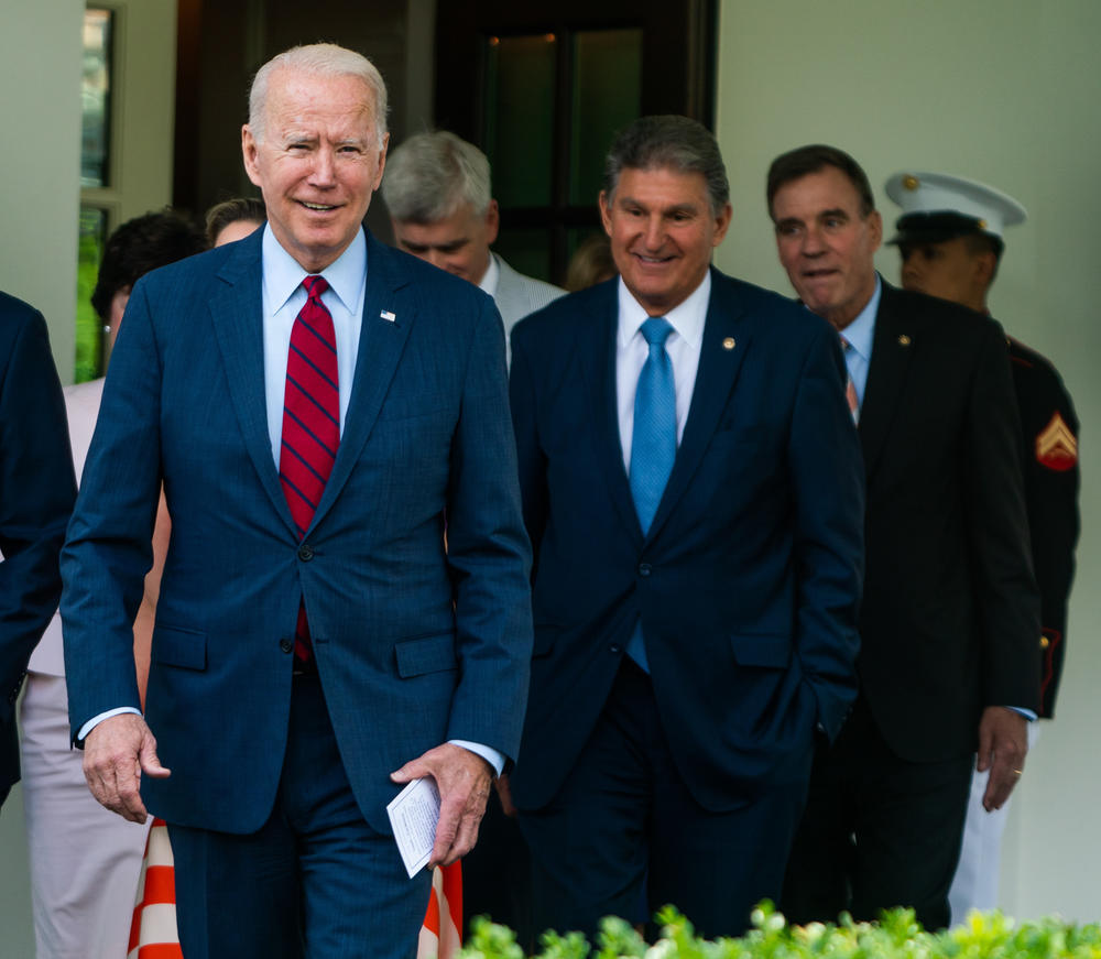 Passage of the nation's most expansive climate proposal ever could come down in part to a compromise between two prominent Catholic politicians: President Biden and Sen. Joe Manchin, D-W.Va.