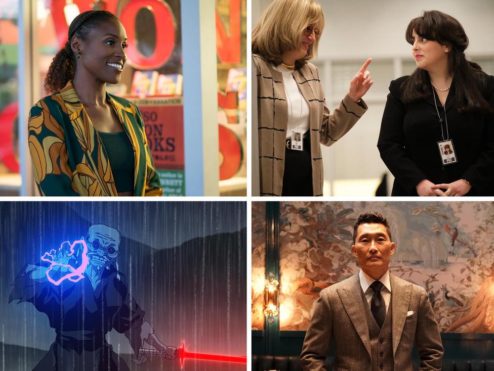 Clockwise from top left: <em>Insecure</em>, <em>Impeachment: American Crime Story</em>, <em>Everybody's Talking About Jamie</em>, <em>The Wonder Years</em>, <em>The Premise </em>and<em> Star Wars: Visions.</em>