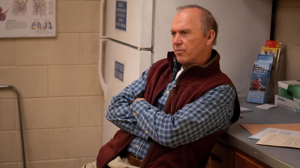 Michael Keaton plays Dr. Sam Finnix in Hulu's <em>Dopesick</em>.