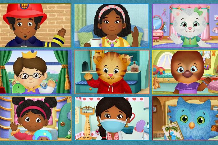 Grid of characters from the PBS KIDS show Daniel Tiger's Neighborhood