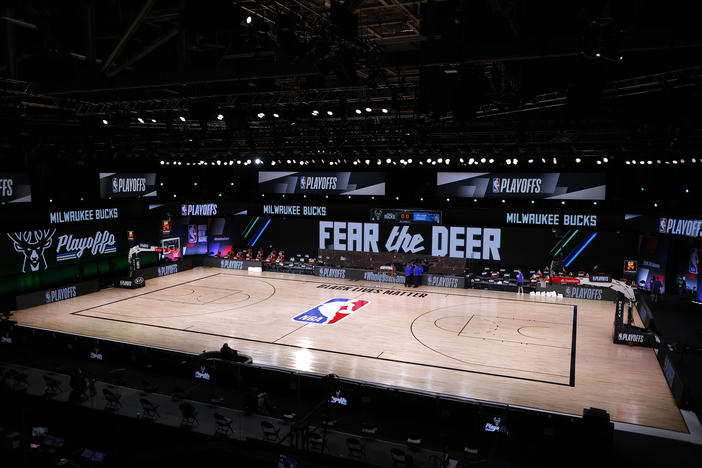 Empty NBA Court As Players Boycott the Game