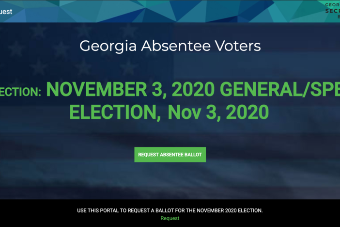 The Georgia Secretary of State's office has launched a new online absentee ballot request portal for the November election.