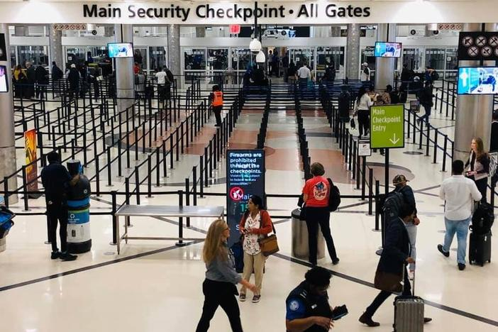 Security checkpoint Hartsfield-Jackson International Airport