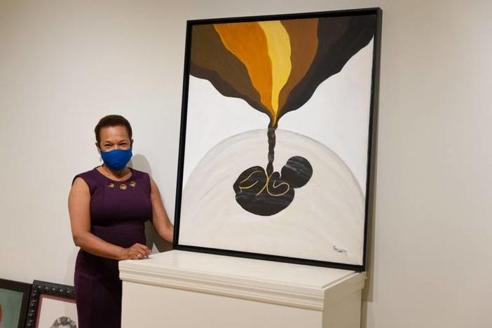 Gwendolyn Payton with her art