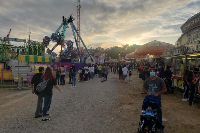 Afternoon crowds attend the 2020 Georgia State Fair in October.
