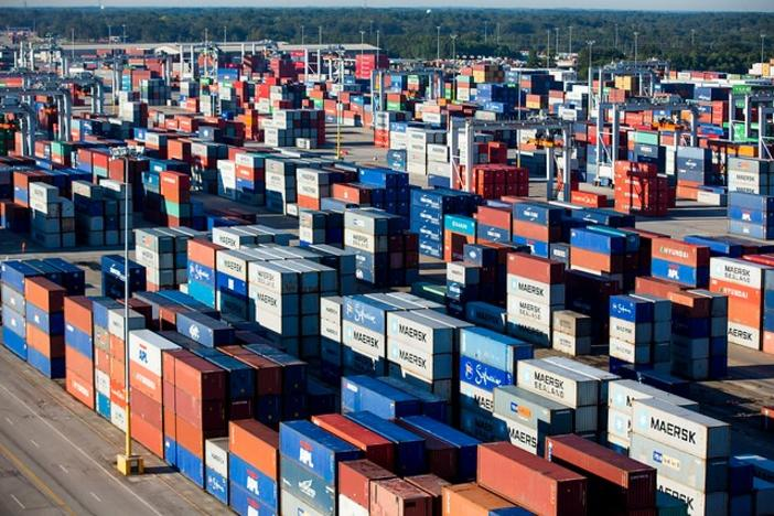 Containers at the Port of Savannah