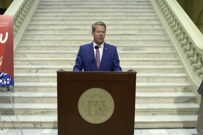 """I think we've had many great successes, but make no mistake: This has been a tragic virus for those that have gotten it and succumbed to it. Those individuals, families and their local communities remain in my thoughts and prayers,"" Gov. Brian Kemp said Wednesday."