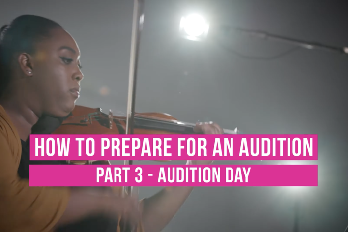 preparing for an audition