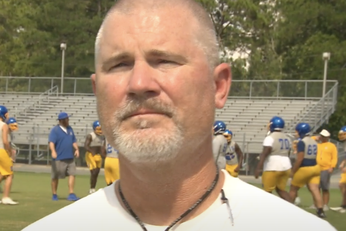 head coach of the Crisp County Cougars, Brad Harber