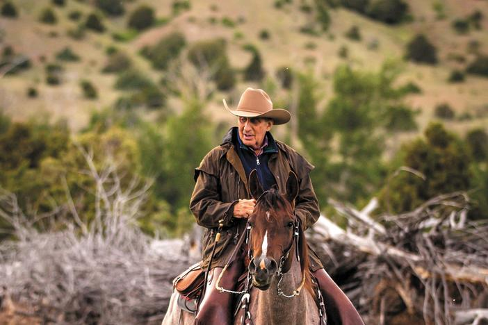 Arthur Blank on horseback