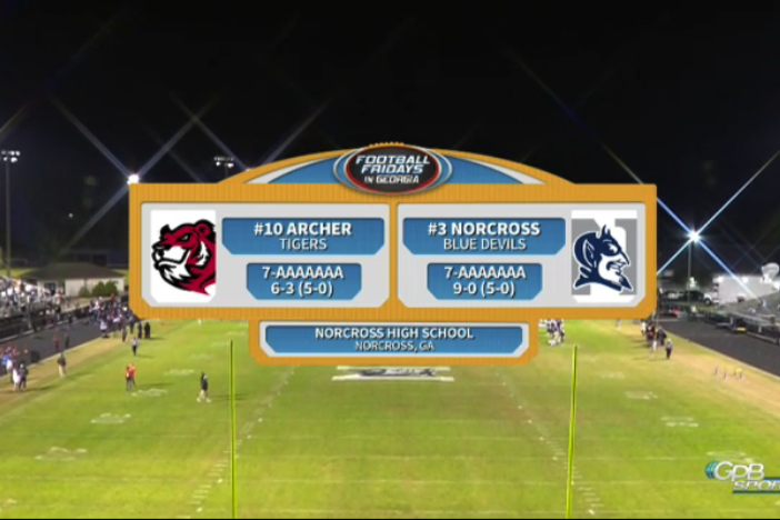 Football Friday's in Georgia:  Archer at Norcross