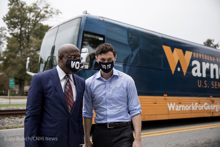 Democratic candidates Rev. Raphael Warnock and Jon Ossoff are coordinating their efforts in the election as they seek to flip Georgia's two Senate seats.