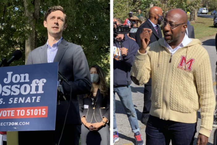Senators-elect Jon Ossoff and Raphael Warnock