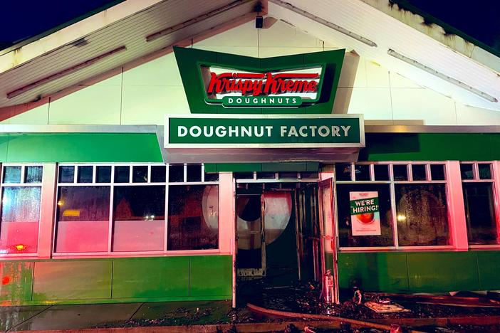 Historic Atlanta Krispy Kreme donut shop damaged by fire