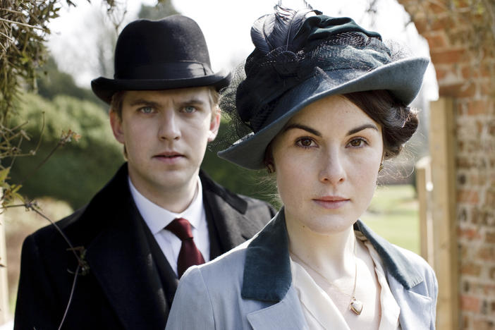 Dan Stevens (Matthew Crawley), Michelle Dockery (Lady Mary Crawley)