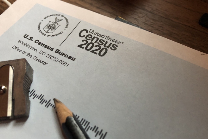 A census form sent out during the 2020 census.